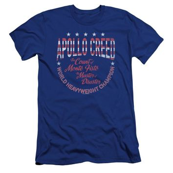 Rocky Premium Canvas T-Shirt Apollo Creed Heavyweight Champion Royal
