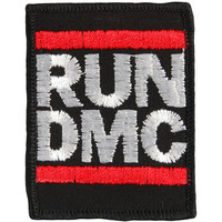 Run DMC Men's Embroidered Logo Embroidered Patch Black