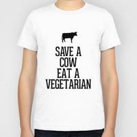 Save a Cow Eat a Vegetarian Kids T-Shirt by RexLambo | Society6