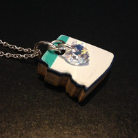 Recycled Skateboard Necklace - Arizona