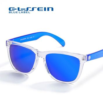 COLOSSEIN Summer Sunglasses Women Brand Designer Summer Style Cool Blue Lens Plastic Frame Glasses Holiday Necessary Eyewear