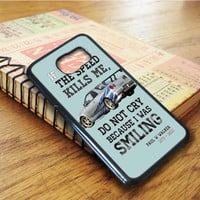 Paul Walker Tribute Gtr Qoutes Samsung Galaxy S6 Edge Case