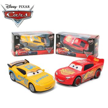 2019 9cm Disney Pixar Cars 3 Lightning McQueen Mater Jackson Storm Ramirez 1:55 Diecast Metal Pull Back Car Toy Model Boys Gifts