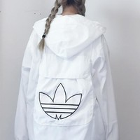 Adidas Sports Coat Windbreaker Can be a small backpack