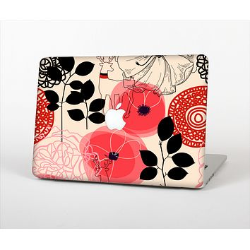 The Pink Nature Layered Pattern V1 Skin Set for the Apple MacBook Air 13""