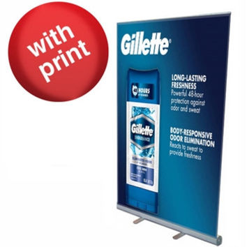 """Roll Up Banner Stand 47"""" with Vinyl Print"""