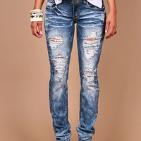 Blizzard Haze Straight Denim - Straight Denim at Pinkice.com