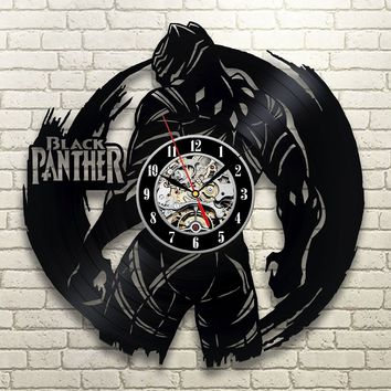 Black Panther VINYL RECORD WALL CLOCK UNIQUE DESIGN