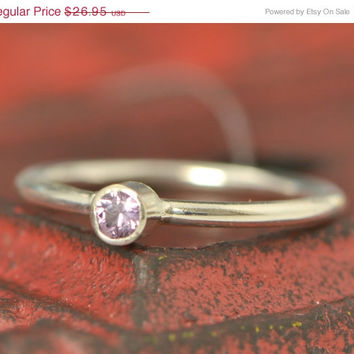 Christmas In July June Birthstone Ring - June Gemstone Ring - Stacker Ring -June Ring - Gemstone Jewelry - CZ Jewelry