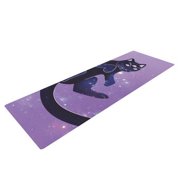 "KESS Original ""Cosmic Kitten"" Celestial Animal Yoga Mat"