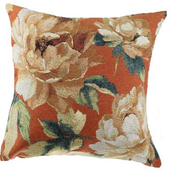 Sweet Blossoms Brick Decorative Pillow Cushion Cover