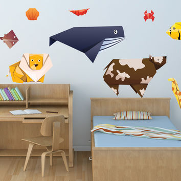Nursery wall decals - Awesome Origami Animals