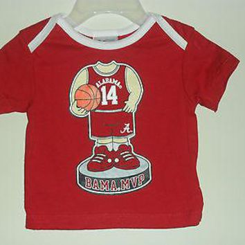 Alabama Crimson Tide Bama MVP Basketball T-shirt Baby Sizes 0-9 Month New