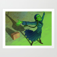 wizard and I Art Print by Squeegool