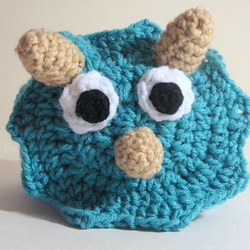 Triceratops Hat PDF Crochet Pattern - Newborn to Adult INSTANT DOWNLOAD