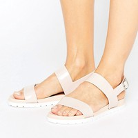 London Rebel Flat Sandal at asos.com