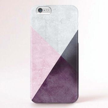 iPhone 6 Case, iPhone 6 Plus Case, iPhone 5S Case, iPhone 5 Case, iPhone 5C Case, iPhone 4S Case, iPhone 4 Case - Purple Pink Marble block