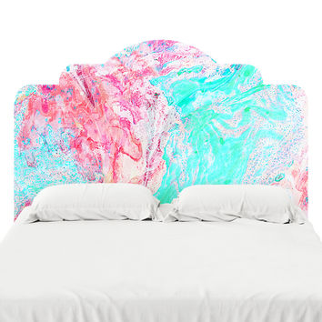 Paper Marble Headboard Decal