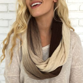 Neutral Ombre Infinity Scarf