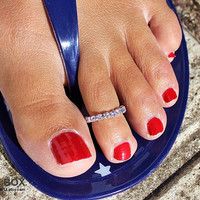 Toe Ring - Shining Toe Ring - Simple Toe Ring - Foot Jewelry by tinybox12