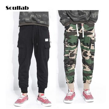 soullab plus size new men bottom cargo jogger pants sweatpants harem army camo camouflage fashion casual trousers skate military
