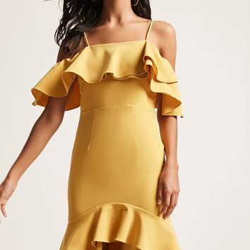 12x12 Tiered Ruffle Midi Dress