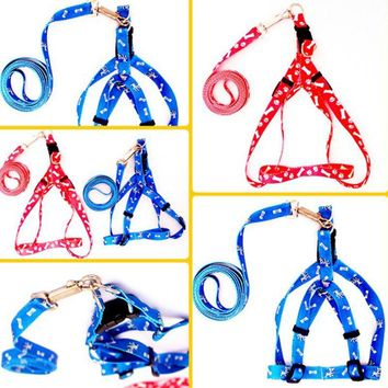 Smart Small Adjustable Nylon Harness with Leash Dog Harnesses & Cat Harnesses