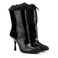 miu miu - patent-leather boots with rubber