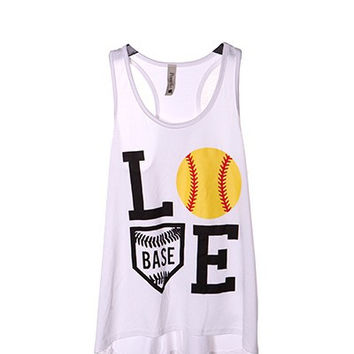 Softball Love Tank top, White