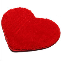 2017 Fashion 40*50CM Soft Home Textile Solid Heart Shaped Anti Slip Chair Pad Cushions Soft Rug Door Mats Carpet  Floor MF154