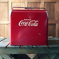 Vintage Coca Cola Cooler, Coke Cooler, Coca Cola Collectibles, Metal Cooler, Beer Cooler