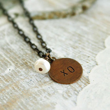 Love XO Brass Necklace by Simply Me Jewelry by MJ