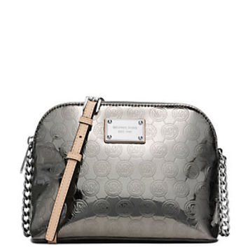 MICHAEL Michael Kors Signature Metallic Cindy Large Dome Cross-Body Bag | Dillard's Mobile