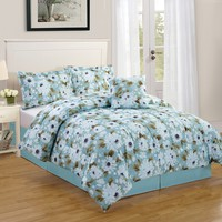 Snowflower 4 Piece Comforter Bedding Set