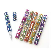 Set of Five (5) Beaded and Mirrored Writing Ball Pens