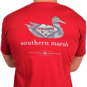 Authentic Arkansas Heritage Tee in Crimson by Southern Marsh