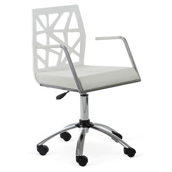 Sophie Office Chair, White, Desk Chairs