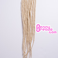 #613 Blonde U-Tip Synthetic Dreadlocks (10 pieces)