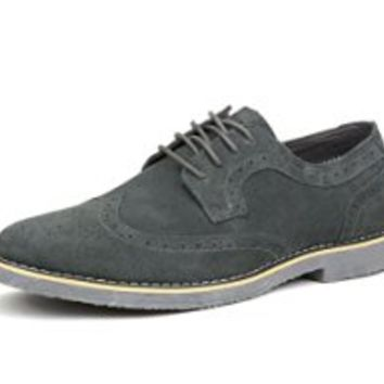 ArgyleX Men's Cardigans, Shoes, & Watches - Top Designers Priced Right - Alpine Swiss Beau Mens Dress Shoes Genuine Suede Wing Tip Oxfords Gray 8 M US
