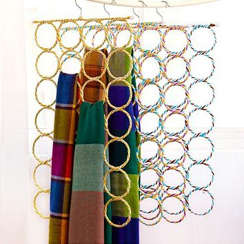 Simply life Creative O shape ring hook Scarves shawls tie towels hanger wardrobe organizer clothes rack