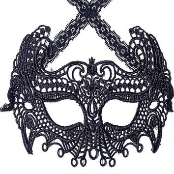 Chicloth Mysterious Black Lace Masquerade Party Mask