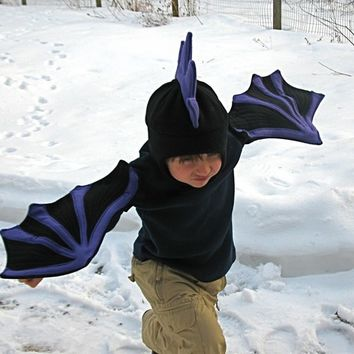 Black Dragon Wings for Imaginations in Motion - Children, toddler, preschooler