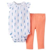 Carter's Sea Animal Bodysuit Set - Baby Girl, Size:
