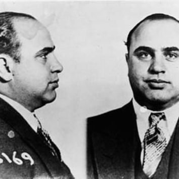 "Al Capone Mug Shot Poster Black and White Poster 24""x36"""