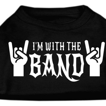 With the Band Screen Print Shirt Black  Lg (14)