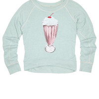 Delia's Brushed Icon Ice Cream Pullover - Coral