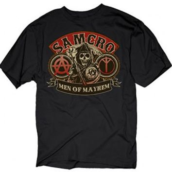 Sons of Anarchy Samcro Men of Mayhem Black Adult T-Shirt  - Sons of Anarchy - | TV Store Online