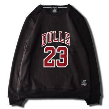 DCKL9 Michael Jordan Chicago Bulls 23 Fleece Black Green White Pink Grey Sweatshirt Mens Wom