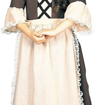 colonial girl child costume - (8/10)