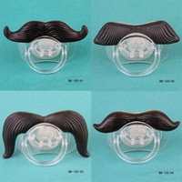 New Funny Mustache Baby Boy Girl Infant Pacifier Orthodontic Dummy Beard Nipples [8361374279]